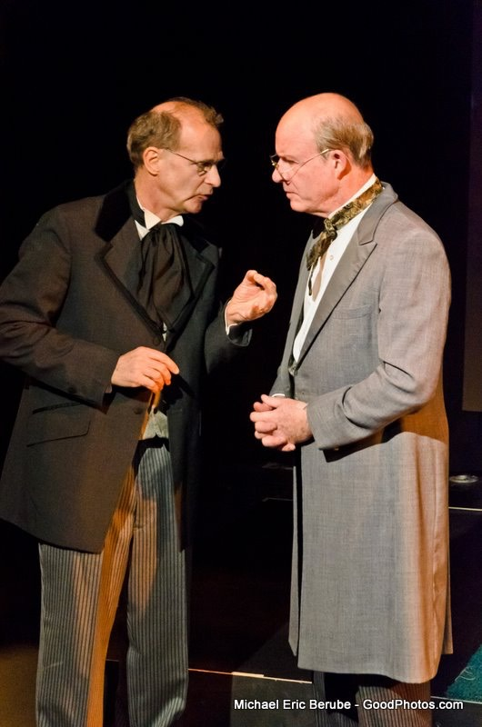 David Arthur Bachrach as Jonathan Snitchey with Bill Vaughn in THE CHRISTMAS BRIDE
