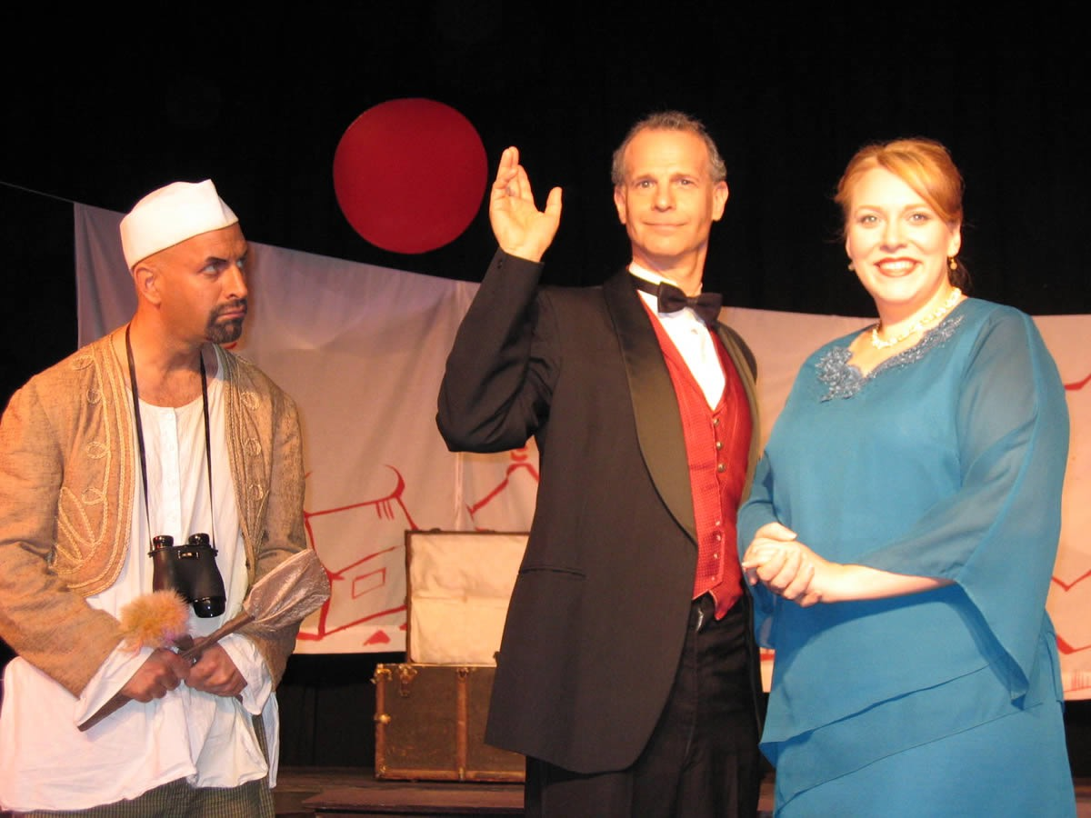 Andrew Clateman, Beth Kirkpatrick, and David Arthur Bachrach in THE SINGAPORE MIKADO