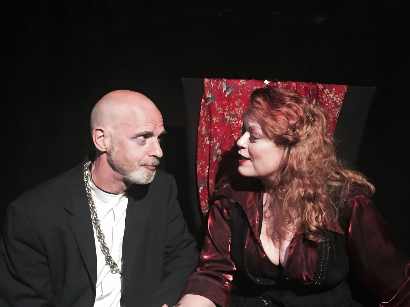 HAMLET - as Claudius, with Linda S. Nelson, photo by Lorraine Mattox