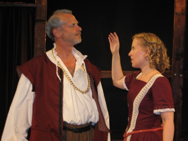 David Arthur Bachrach and Anna Marie Sell in THE TAMER TAMED